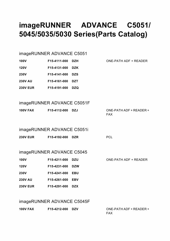 ir-adv c5030 manual pdf